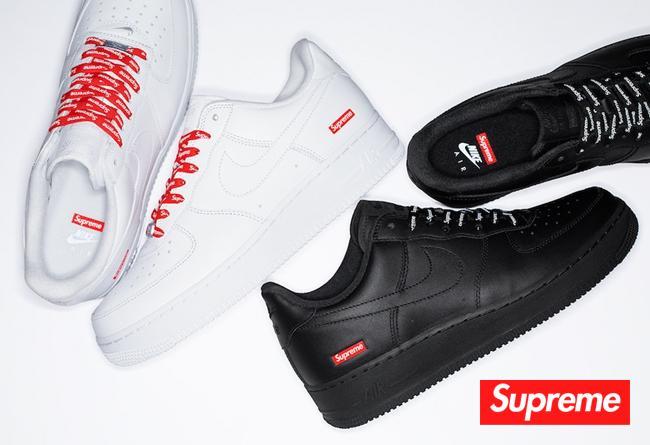 Supreme x Nike Air Force 1 Low 货号:CU9225-100