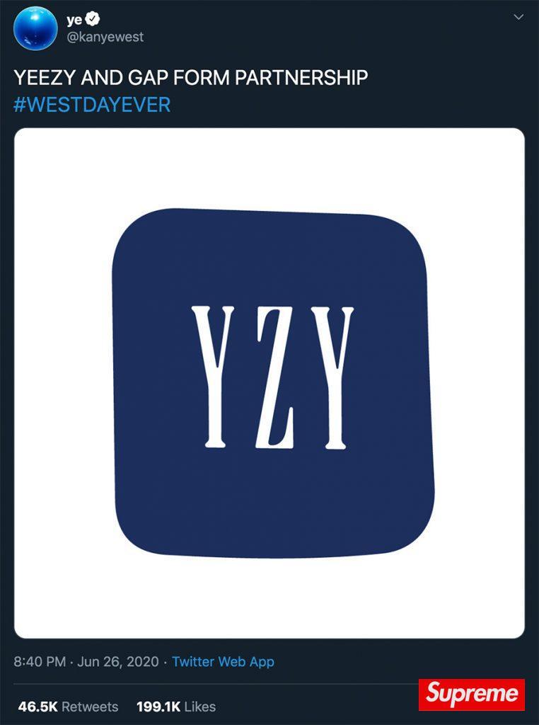 YZY x GAP 联手合作,侃爷预意打造亲民价 Yeezy?!