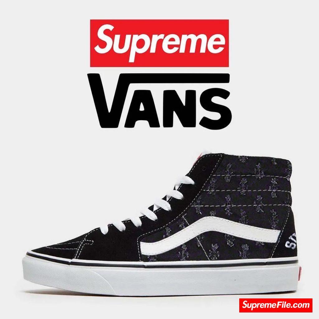Supreme x Vans-Hole Punch Denim Sk8-Hi & Slip On 联名系列