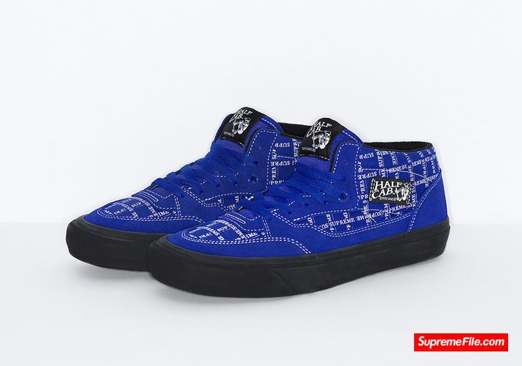 Supreme x Vans Old Skool + Half Cab,Supreme 与万斯的联名新品即日开卖