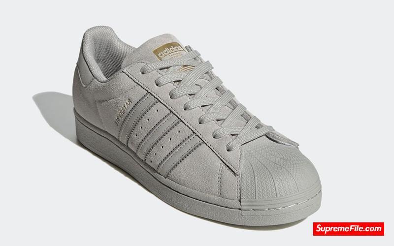 灰色麂皮贝壳头 adidas Superstar 货号:FY2321
