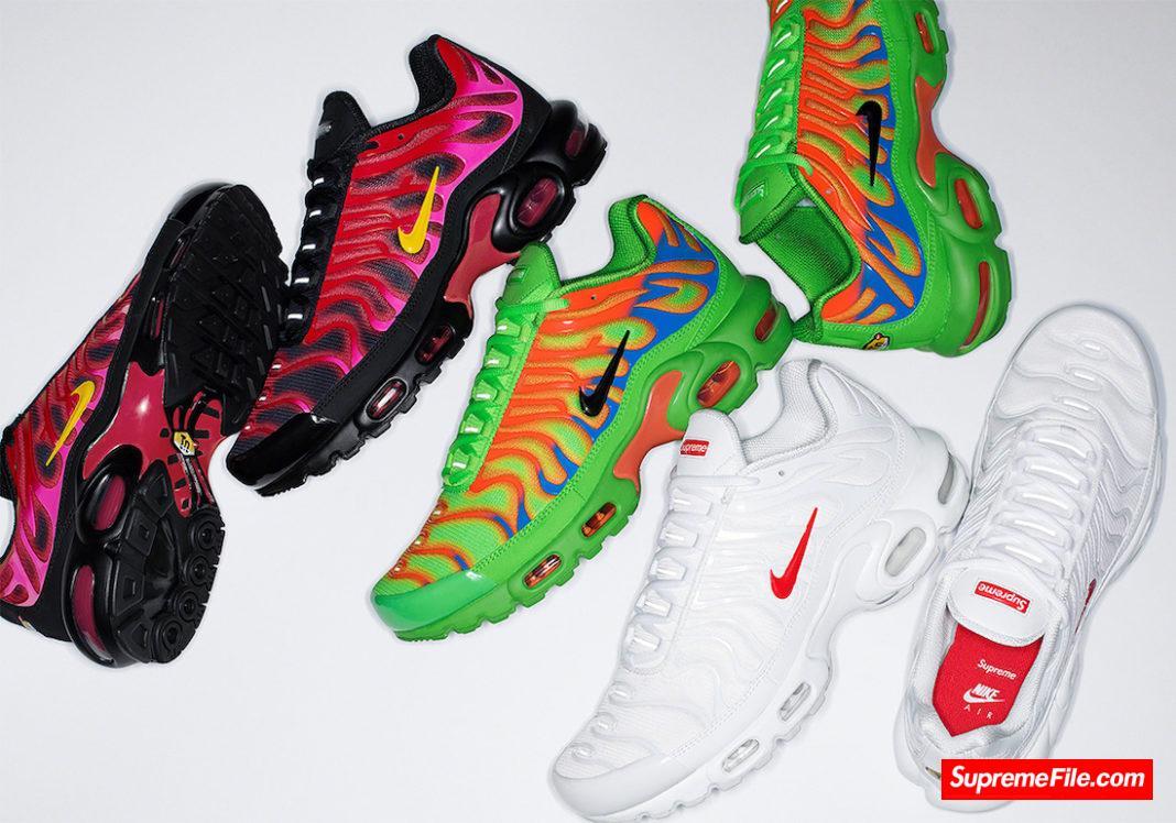 Supreme x Nike Air Max Plus TN 货号:DA1472-300/DA1472-600