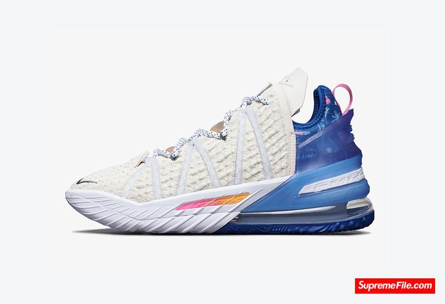 """詹姆斯洛杉矶配色 Nike LeBron 18 """"Los Angeles By Day"""" 货号:DB8148-200"""