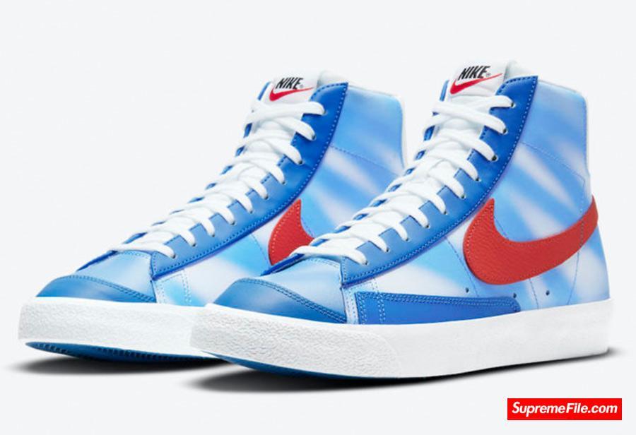 蓝天白云配色,耐克开拓者新品 Nike Blazer Mid 即将发售