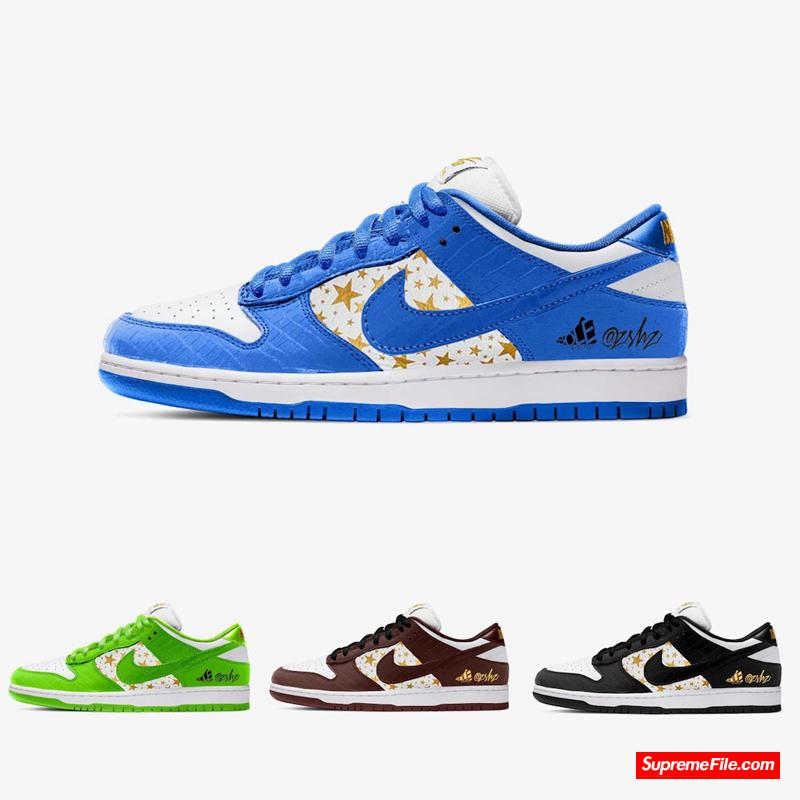 Supreme x Nike SB Dunk Low 货号:DH3228-100/DH3228-101/DH3228-102/DH3228-103
