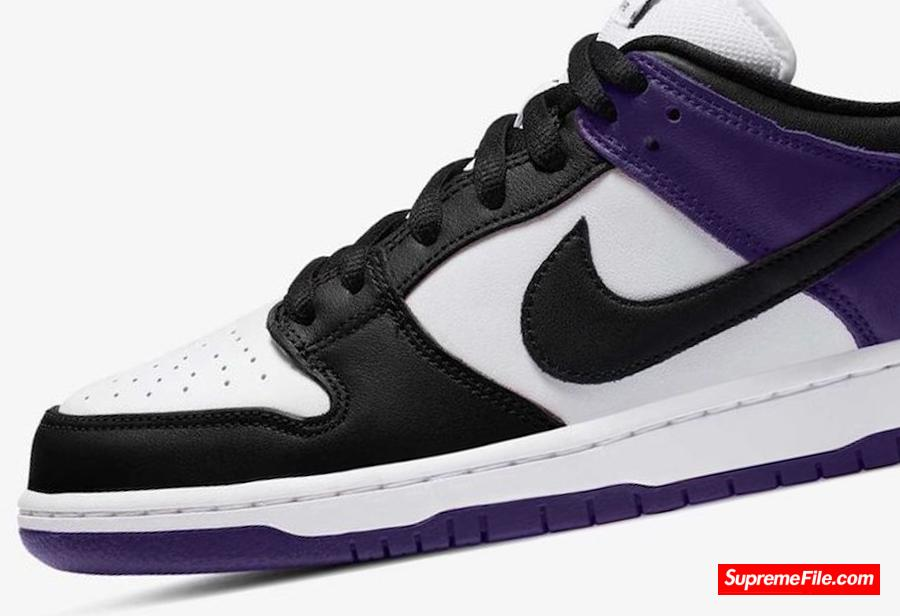 "紫色黑脚趾 Nike SB Dunk Low ""Court Purple"" 货号: BQ6817-500"
