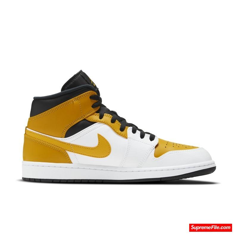 Air Jordan 1 Mid 全新白黄配色