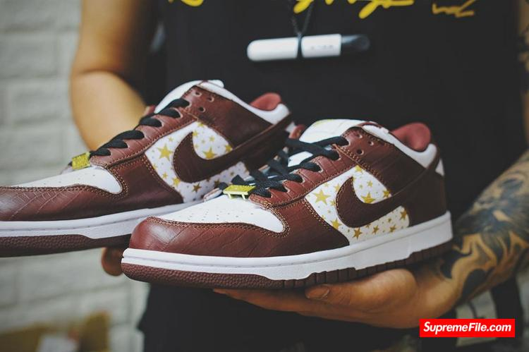 "Supreme x Nike Dunk SB ""Brown"" 货号:DH3228-103"