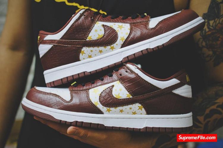 "Supreme x Nike Dunk SB ""Brown"" 货号:DH3228-103"