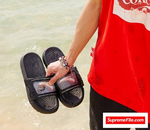 潮拖鞋配袜子穿搭图片 潮拖鞋品牌推荐